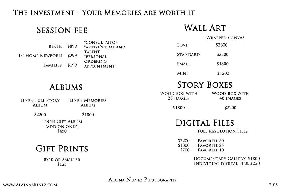Alaina Nunez Photography.2019 Pricing online copy